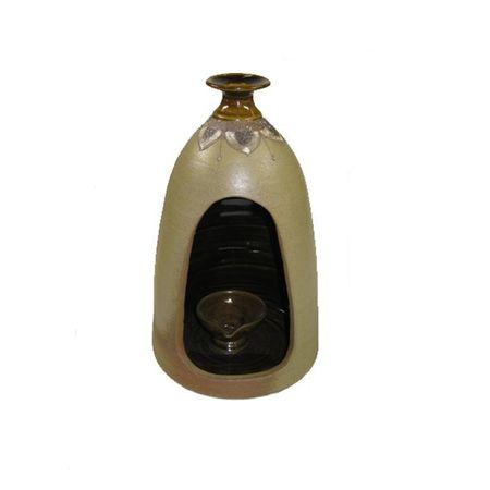 Keramik Laterne 24cm Windlicht Terrassendeko
