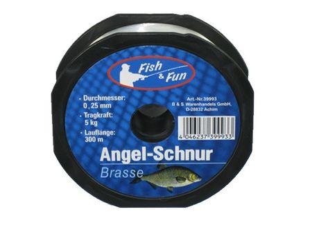 Angelschnur 300m BRASSE Fish & Fun Angeln