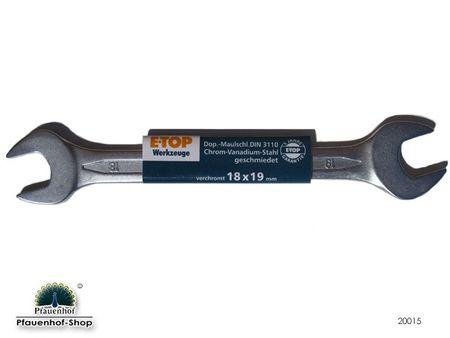 Doppel- Maulschlüssel 18 x 19 DIN 3110 E-Top