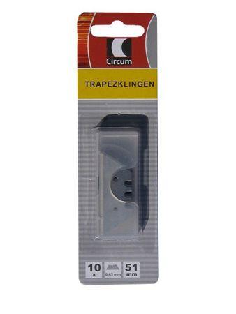 Ersatzklingen Trapezklingen 51x18,9x0,45mm 10 Klingen je Packung Markenware