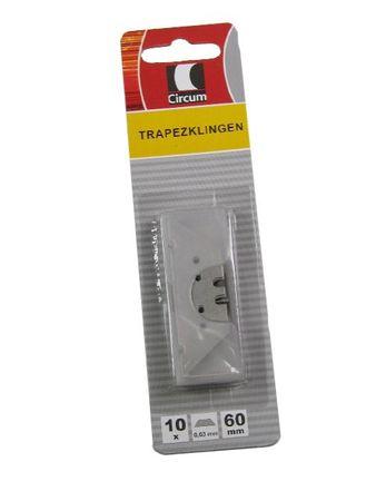 Ersatzklingen Trapezklingen 10 Stück 60x18,9x0,63mm Markenware
