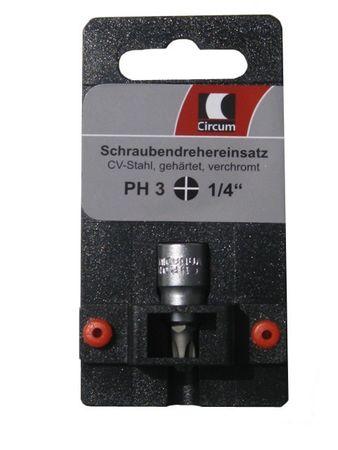 """Circum Schraubendreher- Einsatz SB 1/4"""" PH3 kurz PH 3 Markenware"""