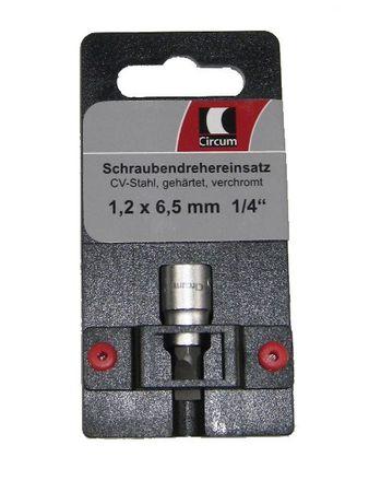 """Schraubendreher- Einsatz SB 1/4"""" 1,2 x 6,5 mm schlitz"""