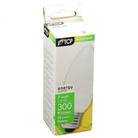 Energiesparlampe E27 7W Kerzenform Energiesparleuchte Glühbirne – Bild 3
