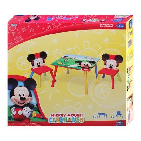 Disney Mickey Mouse Tisch mit Stühlen 60x60cm Holz Kindersitzgruppe Kindersitzgarnitur  – Bild 2