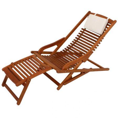 Gartenliege VIP Lounger ALASKA Relaxliege mit Kopfkissen  – Bild 1