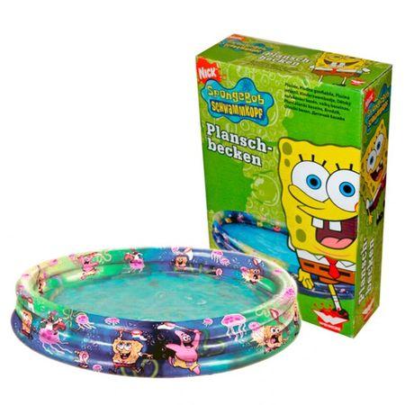 Nickelodeon Planschbecken 175 x 30 cm Spongebob Schwammkopf Pool Becken Schwimmbecken 3 Ringe
