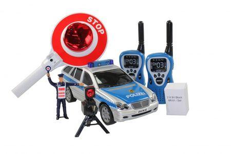 Dickie Kinder Polizei Set 6tlg. Polizeiauto mit Licht & Sound (B-Ware) o. Verpackung