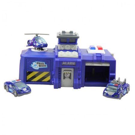 Dickie Rescue Station Polizei oder Feuerwehr blau Auto Garage mit Licht und Soundeffekten B-Ware