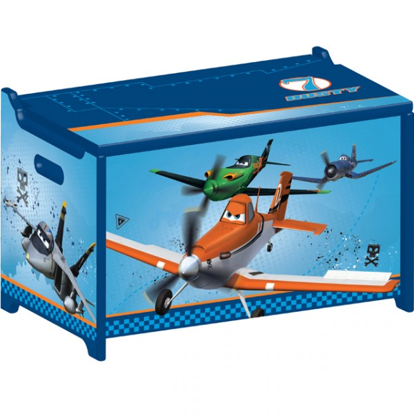 disney planes toy box flugzeug spielzeugkiste aus holz truhe f r spielzeug kiste baby und kind. Black Bedroom Furniture Sets. Home Design Ideas