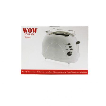 Zwei-Scheiben-Toaster weiß Toaster mit Brötchenaufsatz inkl. Krümelschublade  – Bild 1