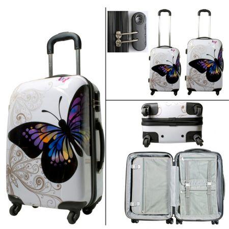 Hartschalenkoffer Set 2tlg. Poly Koffer Reisekoffer Trolley Boardcase Urlaub – Bild 2