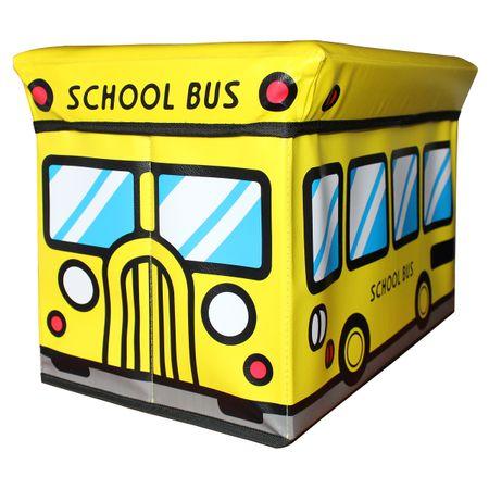 Faltbare Aufbewahrungsbox Spielzeugbox Feuerwehr Schulbus Safari Krankenwagen  – Bild 2