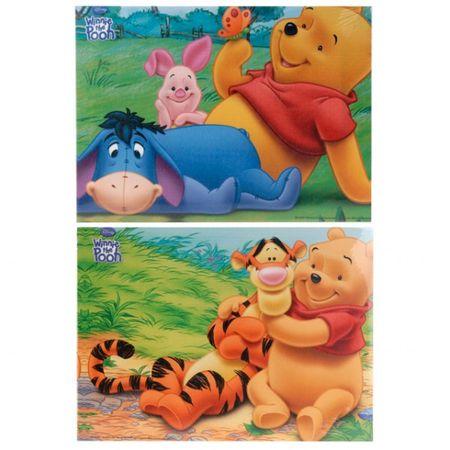 2er Set Winnie Pooh auf Keilrahmen 22x30 cm querkant Wanddekoration Bilder – Bild 1