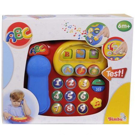 SIMBA Baby ABC Telefon Sound ab 6M+ Kinder Spielzeug Baby Weihnachten Tasten – Bild 3