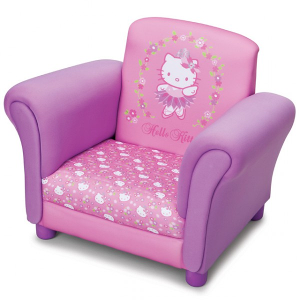 hello kitty pinker sessel f r kinderzimmer kindersessel. Black Bedroom Furniture Sets. Home Design Ideas