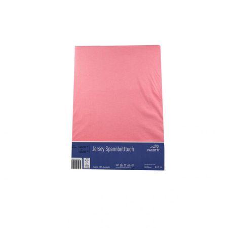 FACOTTI Jersey Spannbettlaken 140x200 Bettlaken Baumwolle braun blau Bettbezug  – Bild 4