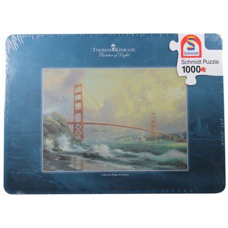 Schmidt Puzzle Spiel Golden Gate Bridge Gesicht Landschaft Fantasy Brücke Nymphe Gothic Tattoo  – Bild 4
