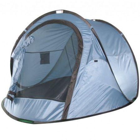 Campingzelt STRELA blau Wurfzelt 2 Personen Popup Zelt Camping Urlaub Polyester