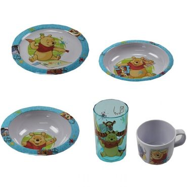 Kindergeschirr Set Melamingeschirr Geschirr Melamin Winnie Pooh Cars Hello Kitty Minnie Mouse  – Bild 2