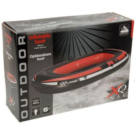 Sportliches aufblasbares Schlauchboot schwarz / rot Wassersport Kanu Kajak  – Bild 2