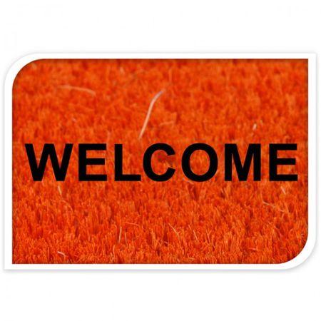 Fußmatte 25x75 cm Welcome Kokos Fußabtreter Antirutschmatte Bodenmatte Matte  – Bild 2