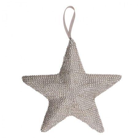 glänzende Hängedeko L 22 cm STERN silber oder gold Weihnachten Fensterdeko  – Bild 3