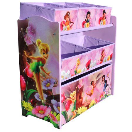 Disney Fairies Multi Toy Organizer für Spielzeug aus Holz mit Textilschubladen Aufbewahrungsbox mit Schubladen  – Bild 2