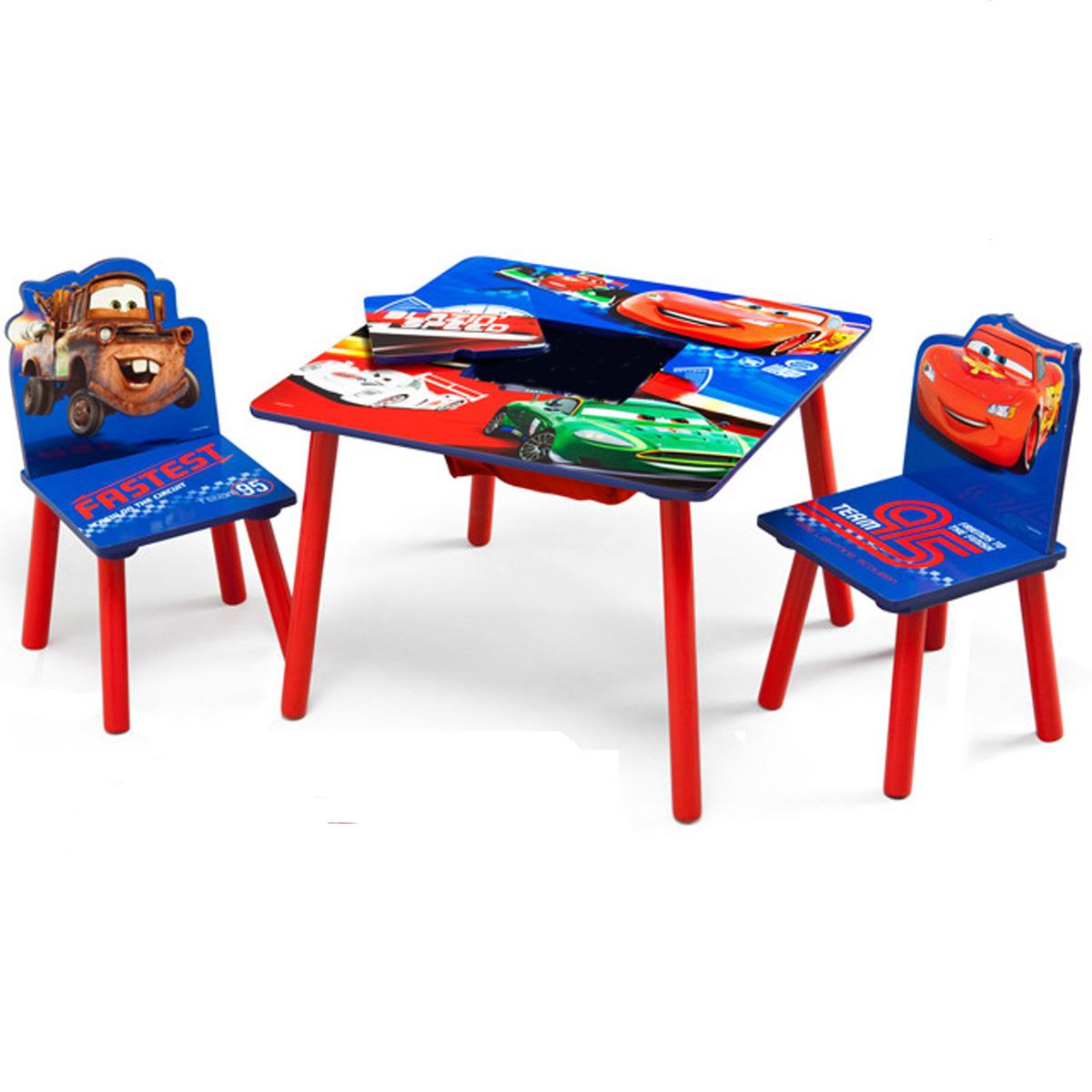 Disney Kindersitzgruppe Cars Tisch 2 Stühle Netz Sitzgruppe