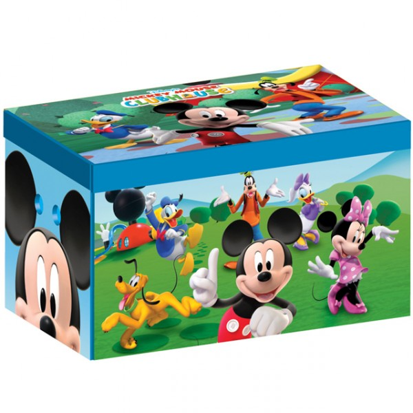 disney canvas toy box mickey mouse aufbewahrungsbox spielzeugkiste f r kinder baby und kind. Black Bedroom Furniture Sets. Home Design Ideas