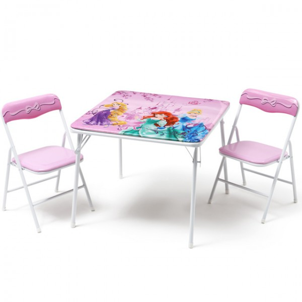 disney princess kindersitzgruppe sitzgruppe klapptisch klappstuhl kinderm bel tisch 2 st hle. Black Bedroom Furniture Sets. Home Design Ideas