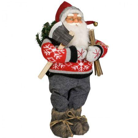 Weihnachtsmann BJÖRN 30 cm Deko Axt Weihnachten Nikolaus Santa Claus Holz Kamin
