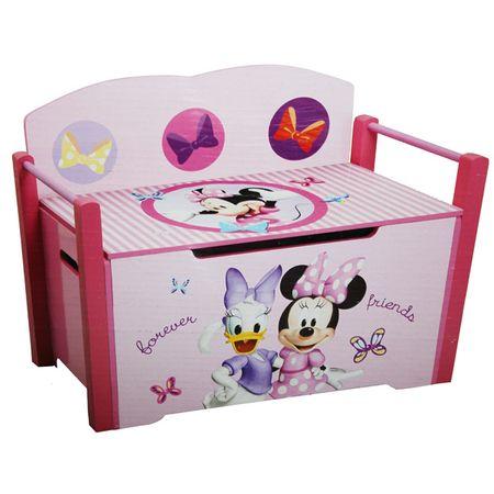 Disney SUPER DE LUXE Toy Box Sitzbank Truhenbank Aufbewahrung Minnie Mouse Planes Holz  – Bild 1