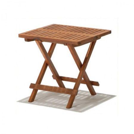 Beistelltisch CLEVELAND Holz Kaffeetisch Klapptisch 50x50cm Hartholz