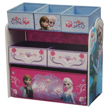 Eisprinzessin FROZEN Multi Toy Organizer für Spielzeug Holz Textilschubladen Aufbewahrungsbox Schubladen