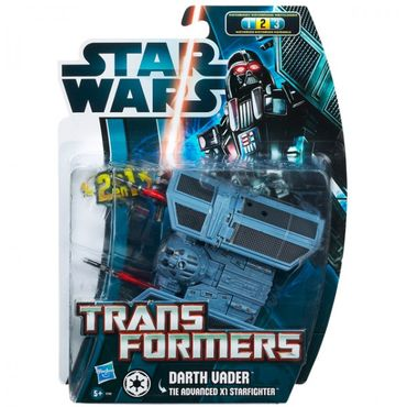 Hasbro Star Wars 37767 2in1 Transformers Darth Maul Darth Vader Battle Droid Figuren Spielfiguren – Bild 7