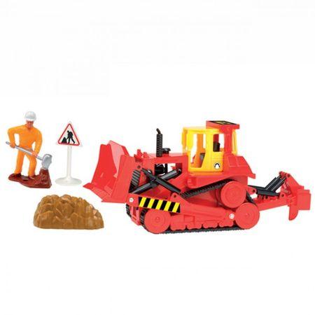 DICKIE Baufahrzeug Work Team Radlader Bagger Kran LKW Schieber Holz Kipper Baustelle  – Bild 2