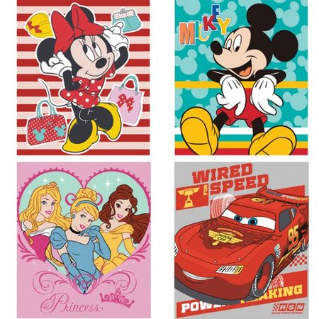 Disney Fleece Decke Kuscheldecke Plaid Cars Minnie Mickey Princess Fleecedecke  – Bild 1