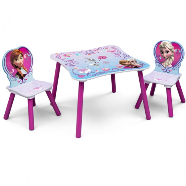 disney kindersitzgruppe frozen eisk nigin prinzessin tisch 2 st hle holz sitzgruppe kinderm bel. Black Bedroom Furniture Sets. Home Design Ideas