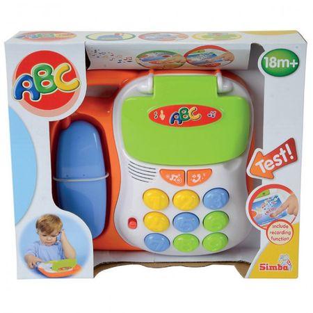 SIMBA ABC Lustiges Telefon verschiedene Sounds Aufnahmefunktion Kindertelefon Babytelefon Musik  – Bild 2