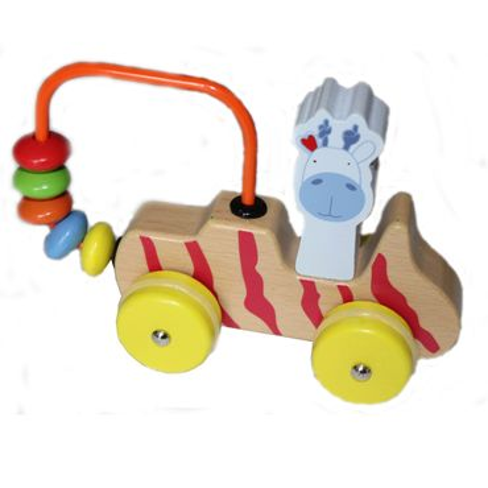BELUGA Lugis Motorikschleifen Malou Kala Kosmo Giraffe Bär Löwe Holz Spielzeug   – Bild 1