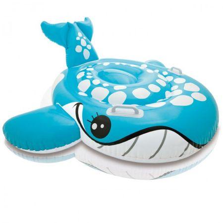 INTEX Reittier Blauer Wal 160 x 152 cm aufblasbar Wasser Kind Schwimmhilfe