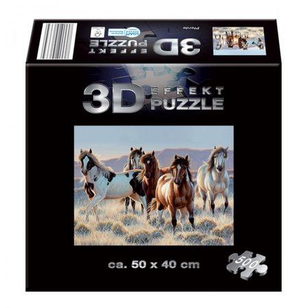 KINDERTRÄUME 3D Effekt-Puzzle Puzzle 500 Teile 50x40 cm Pferde Dschungel Boot  – Bild 3
