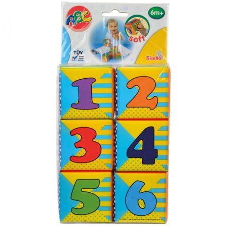 Simba Baby ABC Stapelwürfel EVA bunt weich Würfel Motorik Spielzeug Baby Kinder  – Bild 2