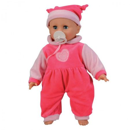 SIMBA 105142601 Baby Collection Crying Doll Puppe 40 cm Weichkörperpuppe weint + Schnuller  – Bild 1