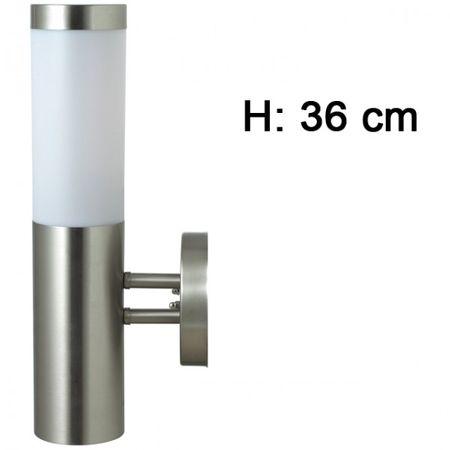 Aussenleuchte Wandleuchte Edelstahl 36 cm (H) Beleuchtung Gartenlampe Leuchte  – Bild 3