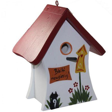 Die Vogelvilla Set Vogelhaus Nistmini BLEIB NEUGIERIG Futterhaus Nistkasten Wildvögel  – Bild 4