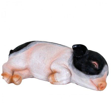 Deko Schweinchen Gartenfiguren Polyresin Schweine Tierfiguren Figur Gartendekoration pink  – Bild 4