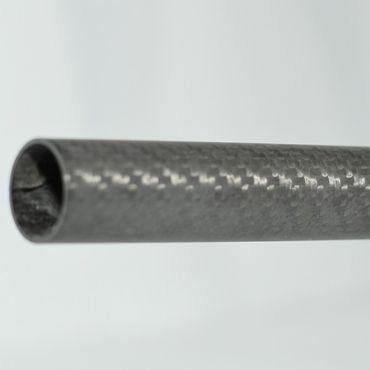 CFK Rohr - 22 x 20 x 1000 mm - 3K Carbon Tube - Matt Karbon