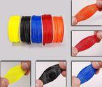 Geflechtschlauch / Kabelschutz Gewebeschlauch 8mm Rot 001